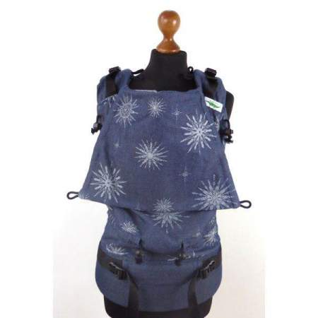 Marsupio regolabile Buzzidil Exclusive Denim Star XL 100% Gots
