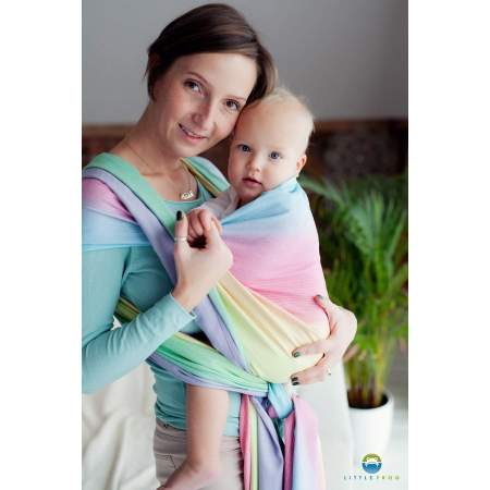 Woven baby wrap Little Frog Bamboo Tourmaline