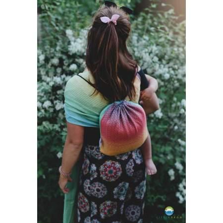Drawstring Bag for wrap/sling Little Frog Linen Lovely Linen Rainbow