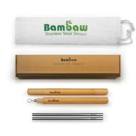Stainless steel straw case set (set of 4 straws)