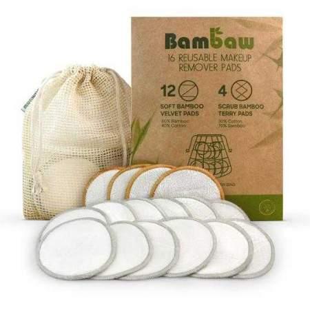 16 reusable makeup remover in bamboo Bambaw