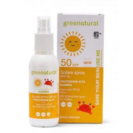 Spray Solare Ecobio  per bambini Protezione alta SPF 50 Greenatural