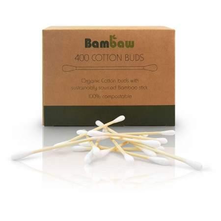 Cotton fioc - Plastic Free - In bamboo e cotone - Bambaw