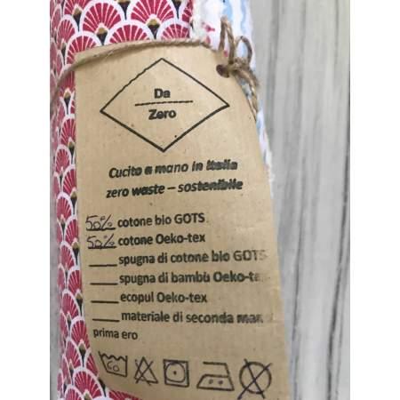 Under The Sea washable paper towel in organic cotton Da Zero