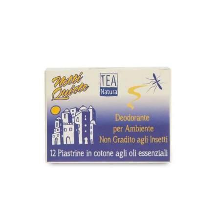12 Piastrine deodoranti in cotone Notti Quiete con oli essenziali Tea Natura