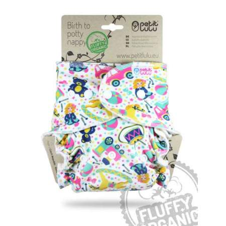 Fitted Fluffy Organic one size Petit Lulu Toy Heaven