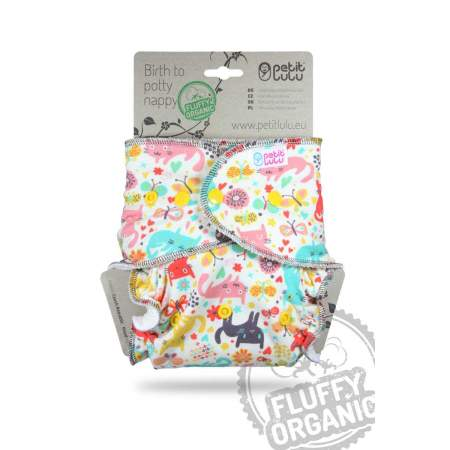 Fitted Fluffy Organic taglia unica Petit Lulu Cat Meadow