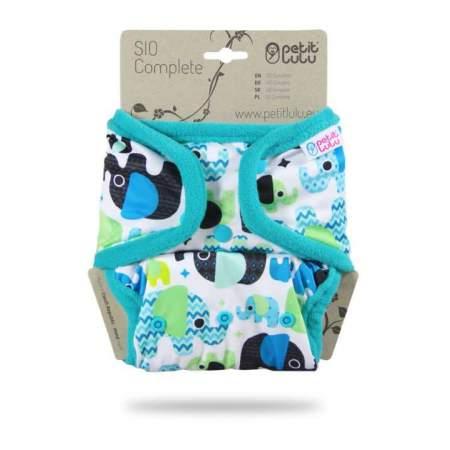 Pannolino lavabile SIO Complete Petit Lulu Baby Elephant (Blue)