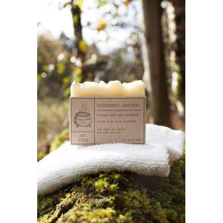 Handmade Solid Soap with Rosemary essential oil Rosemary Garden - The Nature Witch Shop