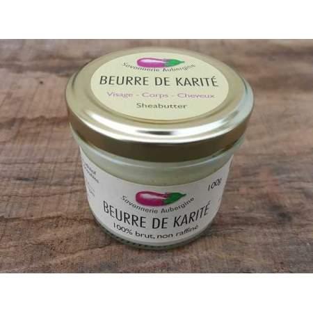 Burro di Karitè organico equo-solidale non raffinato Savonnerie Aubergine