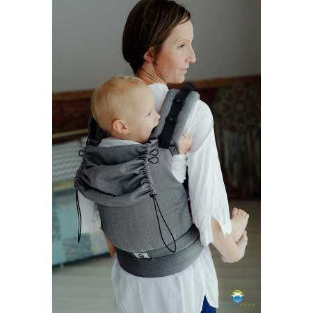 Little Frog Ergonomic Carrier – Graphite Herringbone