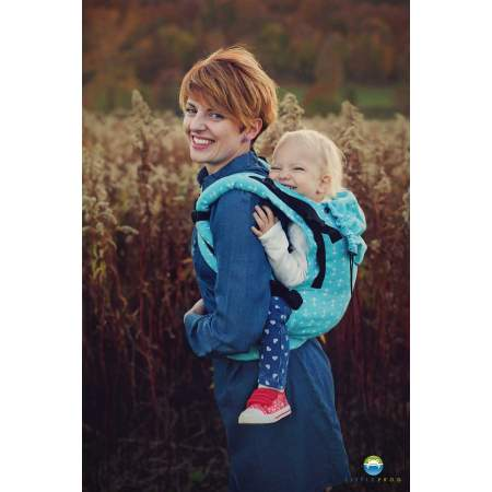 Little Frog XL Toddler Ergonomic Carrier - Turquoise Anchors