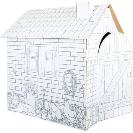 Casetta in cartoncino da costruire e colorare |Legler