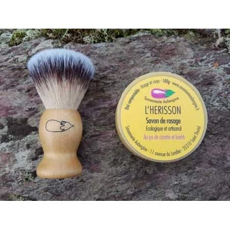 Set regalo Sapone da barba solido e Pennello da barba vegan | Savonnerie Aubergine
