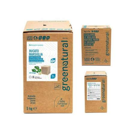 Bag in Box da 5 kg Bucato Eco-Bio Marsiglia | GreeNatural