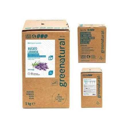 Bag in box da 5 kg Bucato Eco Bio con olio essenziale di Lavanda | GreeNatural