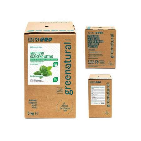 Bag in Box da 5 lt Mousse detergente Multi superficie Eco Bio all'ossigeno attivo | GreeNatural
