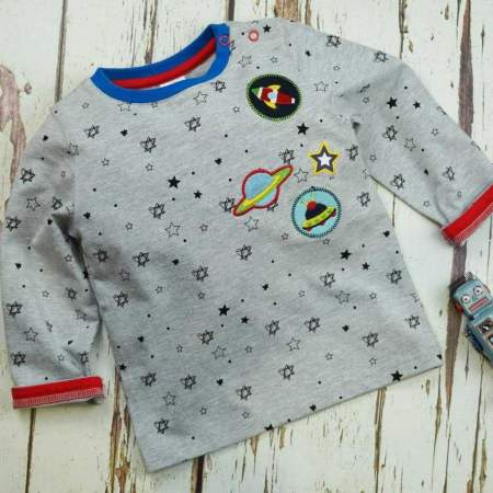 T shirt a maniche lunghe Outer Space   Blade and Rose