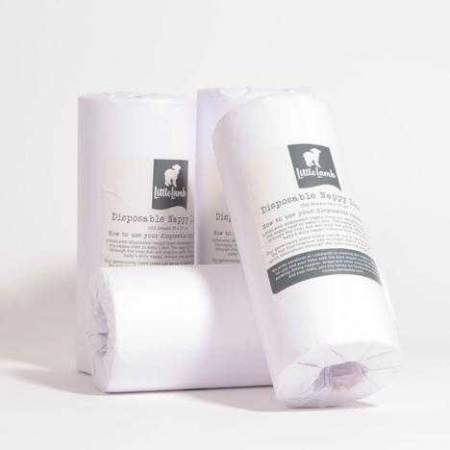 Disposable Nappy Liners 100 on a roll
