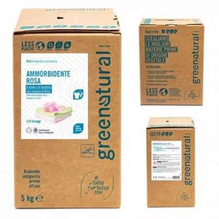 Bag in Box da 5 kg Bucato Ammorbidente con olio essenziale di rosa | GreeNatural