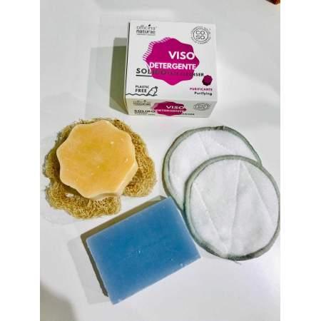 Kit Viso Zero Waste Detergente Purificante, Struccante Solido | Officina degli Abbracci
