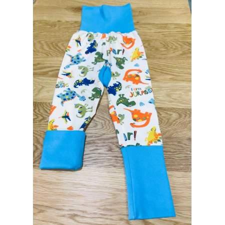 Pantaloni Grow With Me in cotone biologico Dino | Boo & Boo Baby