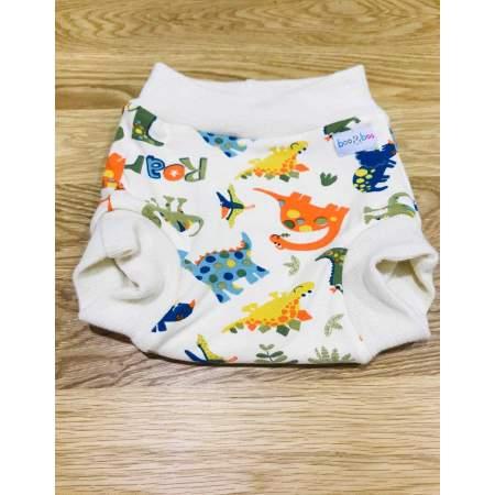 Cover a pantaloncino Dino in lana merino biologica e cotone biologico M| Boo & Boo Baby