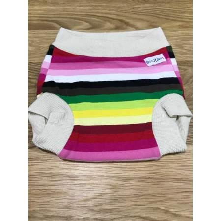 Cover a pantaloncino Stripes in lana merino biologica e cotone biologico | Boo & Boo Baby