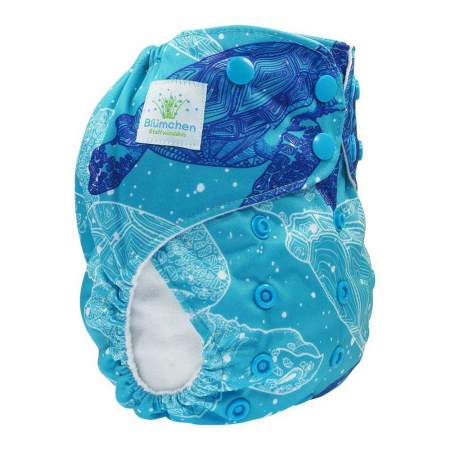 Cloth Nappy Pocket V2 One Size Turtle  without inserts| Blumchen