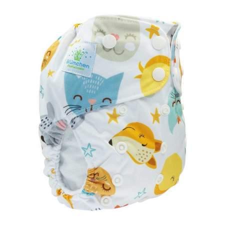 Cloth Nappy Pocket V2 One Size Lovely Animals | Blumchen
