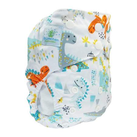 Cloth Nappy Pocket V2 One Size Dino | Blumchen