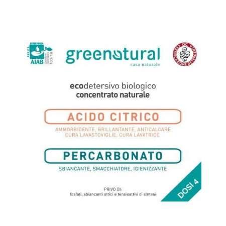 Kit Prova 4 dosi Polvere Acido Citrico + Percarbonato | GreeNatural