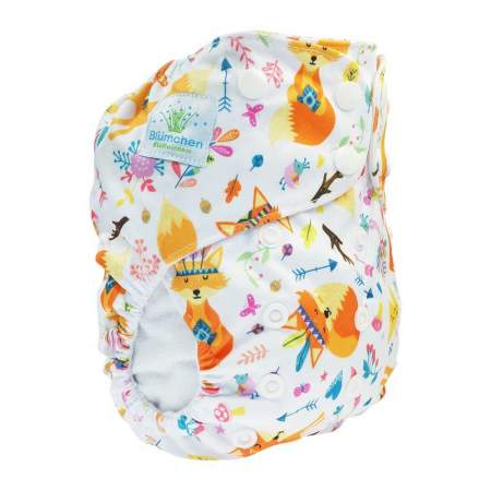 Cloth Nappy Pocket V2 One Size Fox | Blumchen