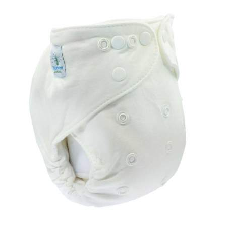 "Fitted slimfit OneSize ""Kuschel"" diaper 5 pcs. Organic Cotton|Blumchen"