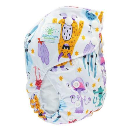 Cloth Nappy Pocket V2 One Size Monsters | Blumchen