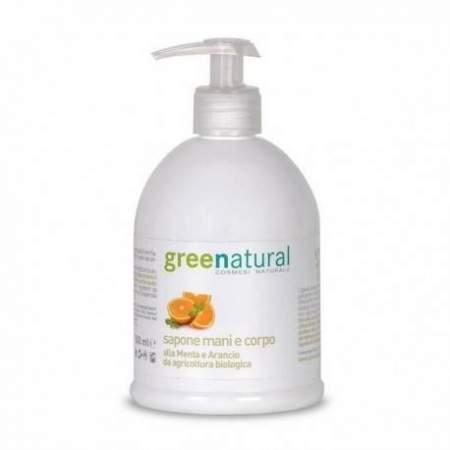 Detergente mani e corpo menta e arancio  Greenatural