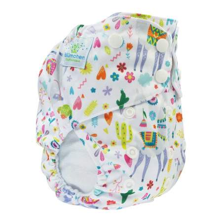 Cloth Nappy Pocket V2 One Size Lama White | Blumchen