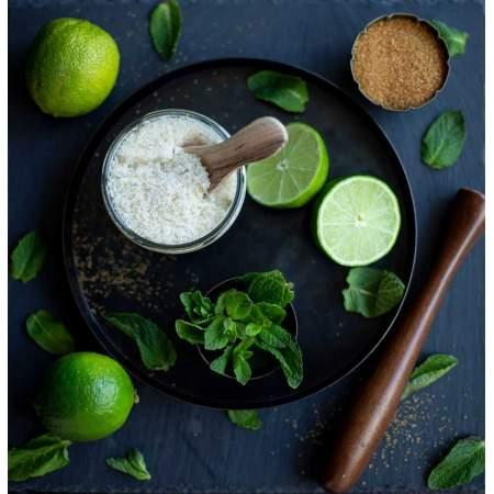 Minty Sugar Scrub  Corpo Naturale Menta, Lime e Limone  |  Almara Soap