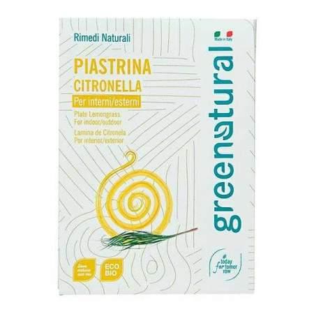 Greenatural Piastrina alla citronella per interni ed esterni  2 pz