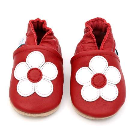 Soft Sole Ruby Red Flowers |  Dotty Fish