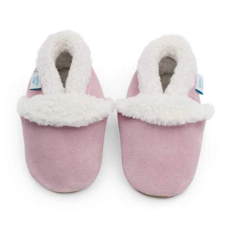 Pantofole in Pelle Scamosciata  Soft Pink |  Dotty Fish
