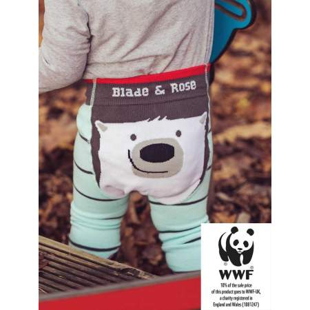 WWF Polar Bear Legging Bio|  Blade and Rose