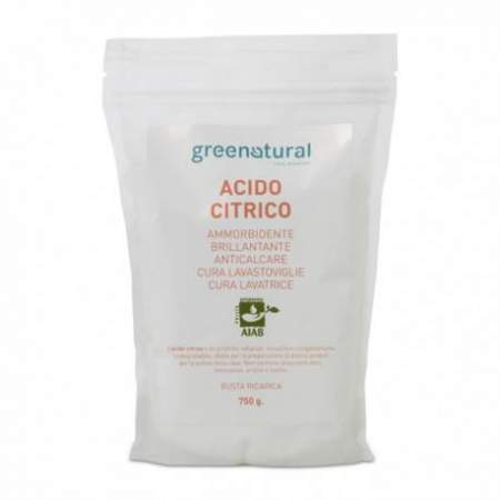 Acido Citrico Greenatural ricarica 750 gr