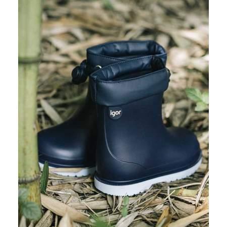 Stivali da pioggia con Coulisse Bicolor Marino | Igor Shoes