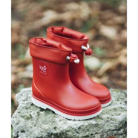 Stivali da pioggia con Coulisse Bicolor Rojo | Igor Shoes