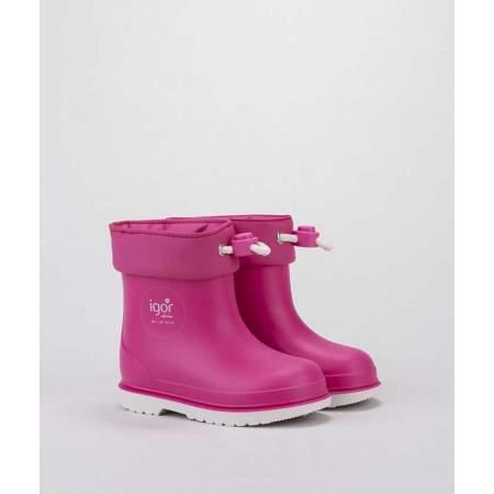 Stivali da pioggia con Coulisse Bicolor Fucsia | Igor Shoes