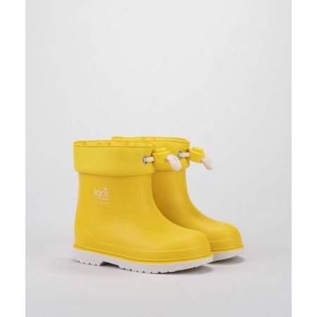 Stivali da pioggia con Coulisse Nautico Amarillo | Igor Shoes