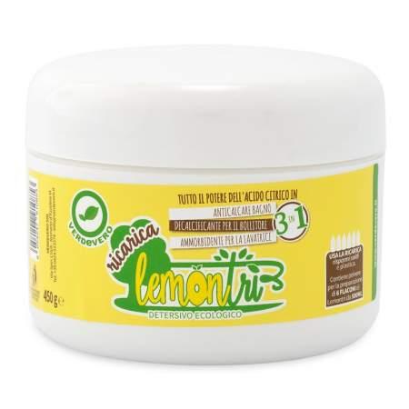 LemonTrì RICARICA Detersivo ecologico 3 in 1 450 gr | Verdevero