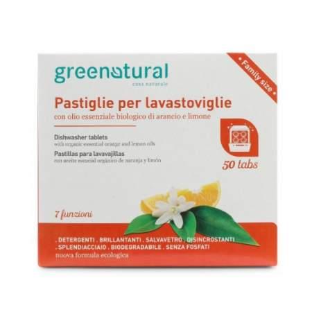 Greentabs Lavastoviglie Arancio e Limone 50 pz | GreeNatural