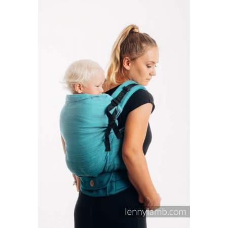 Ergonomic  Carrier Lenny Preschooler  Little Herringbone Ombre Teal   | Lenny Lamb